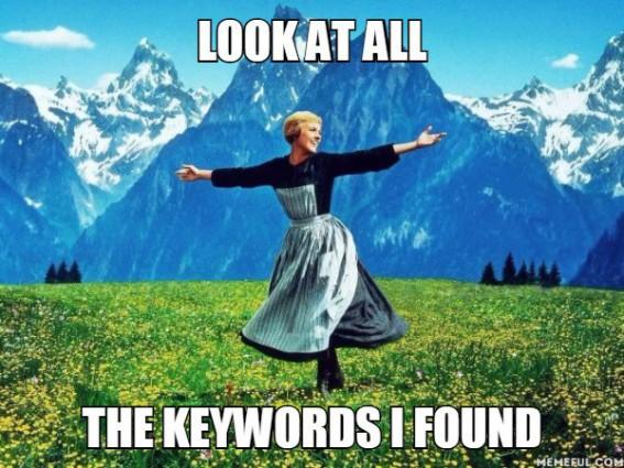 keyword meme