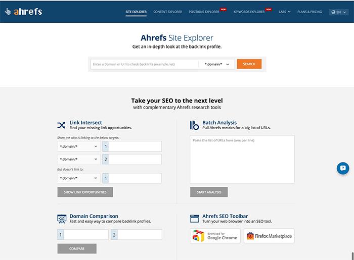 Site-Explorer-homepage