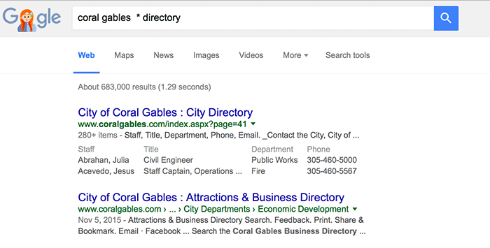 local seo - search modifiers
