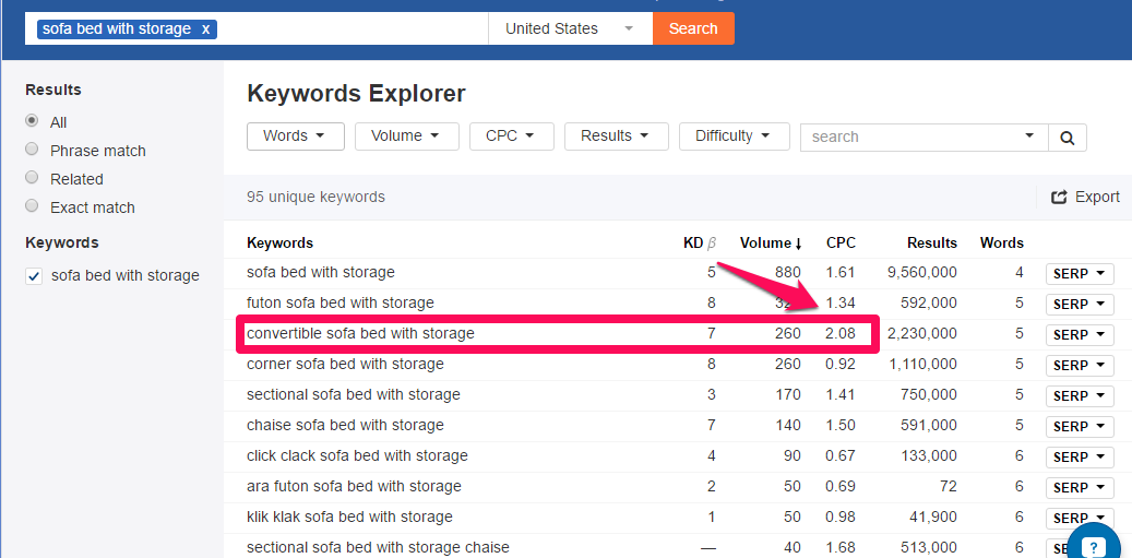 keywords explorer 2