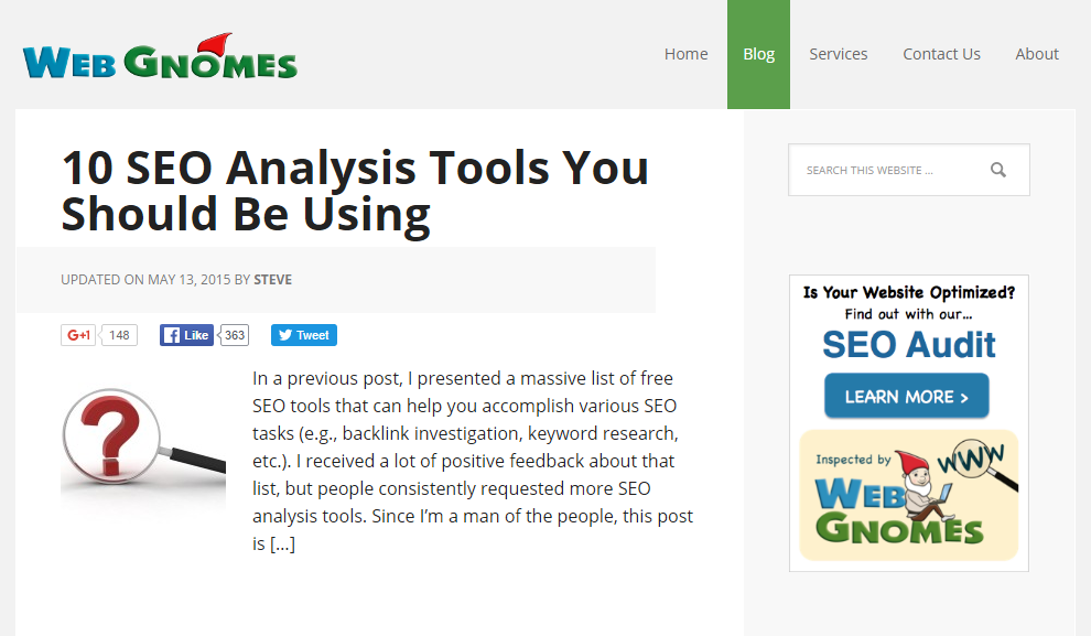 10 SEO Analysis Tools You Should Be Using Web Gnomes
