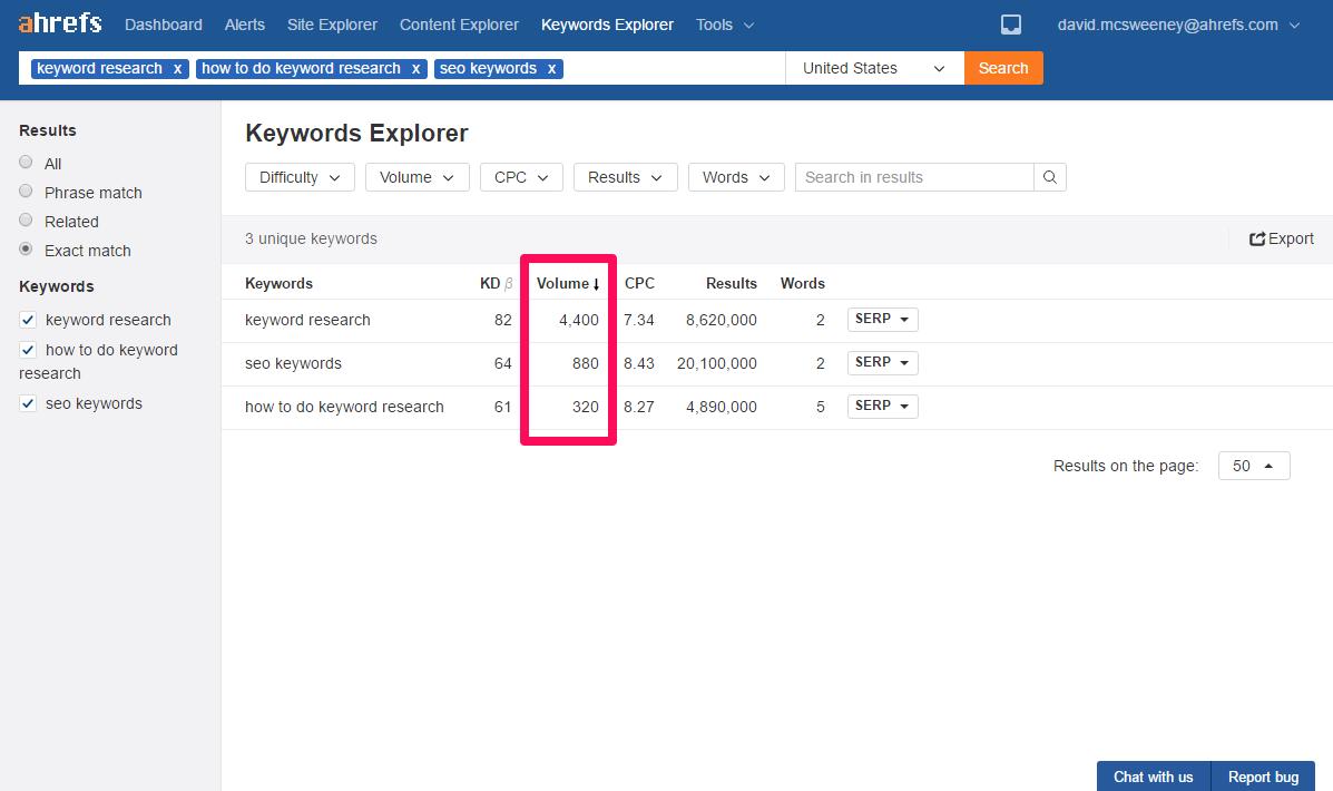 keywords-explorer