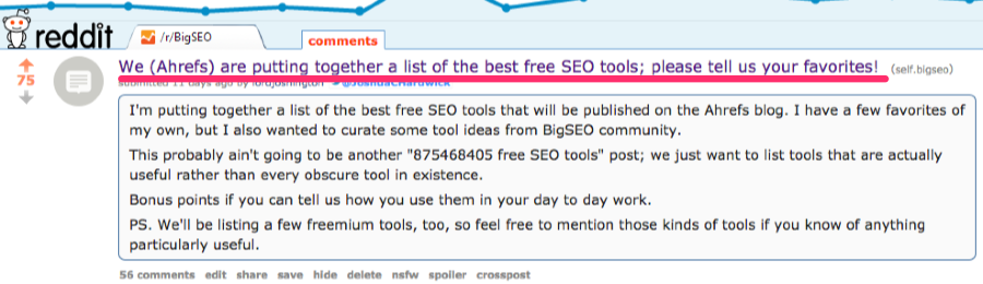 ahrefs bigseo thread