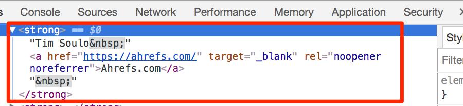 html inspect chrome