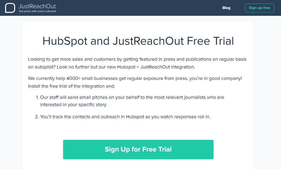 JustReachOut vs Hubspot