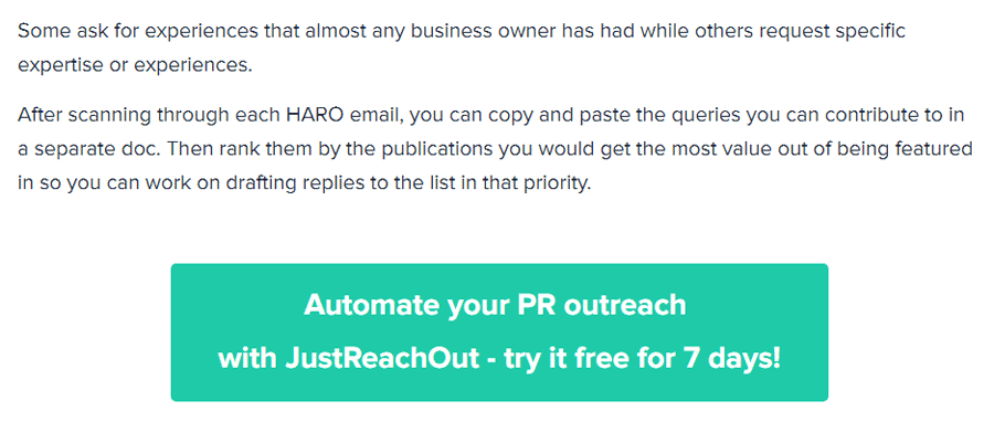 automated outreach CTA