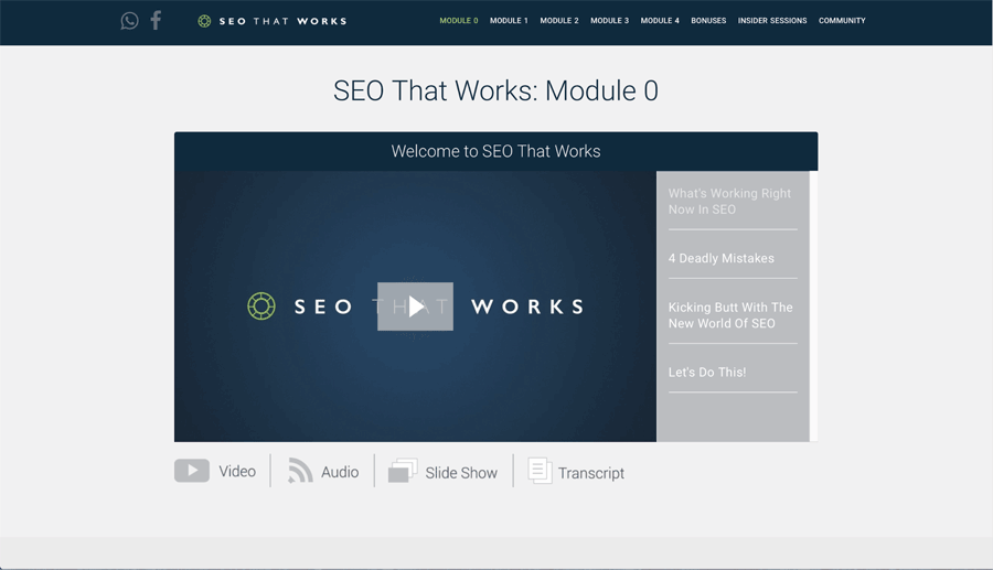 SEO That Works Module 0