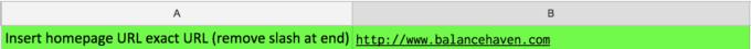 Insert Root URL Into Sheet