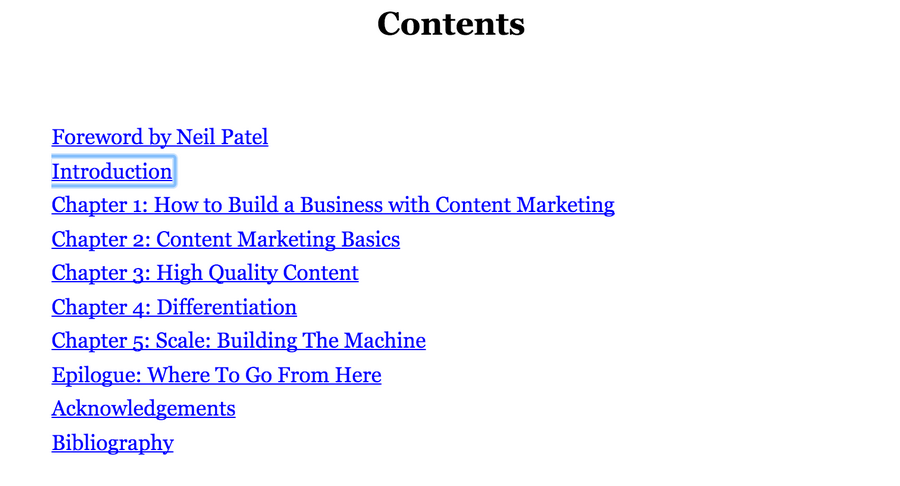 Content machine contents