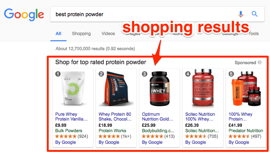 best protein powder google example
