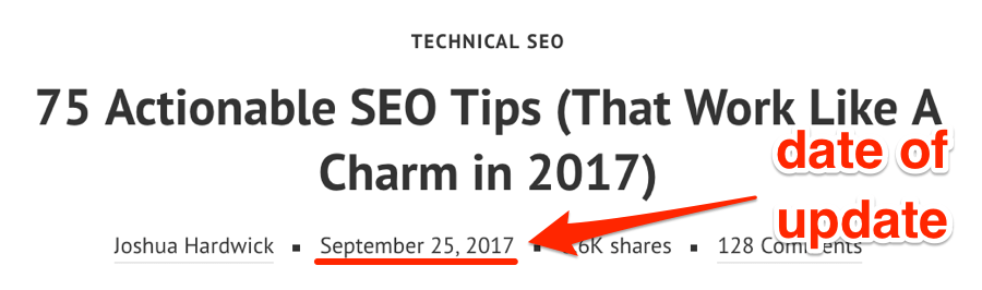seo tips update