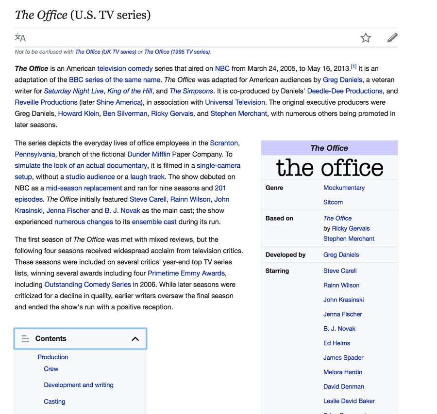 the office page