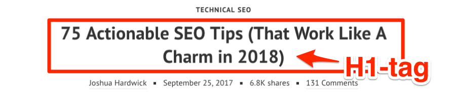 h1 tag seo tips
