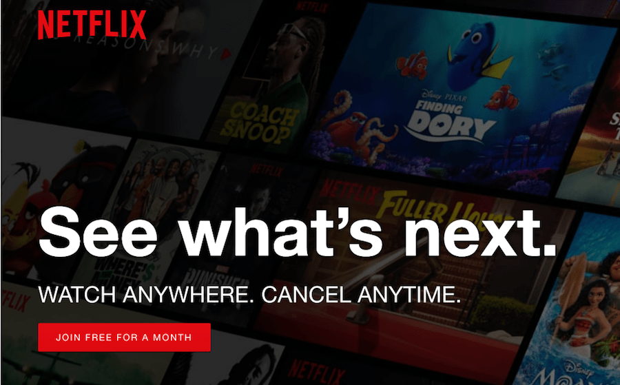 Netflix Call To Action
