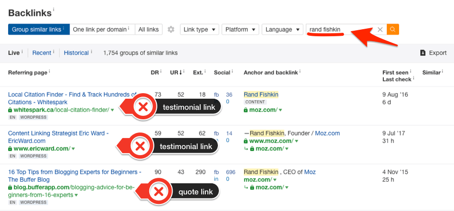 rand fishkin site explorer search