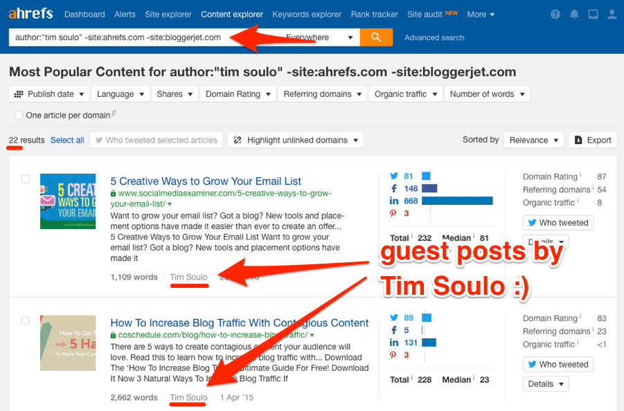 tim soulo guest posts content explorer