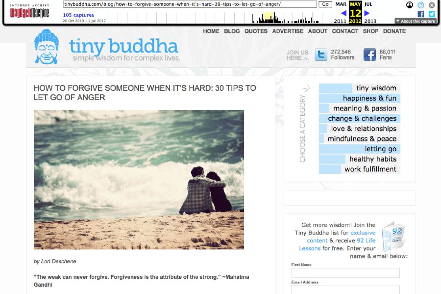 tiny buddha top 404 page