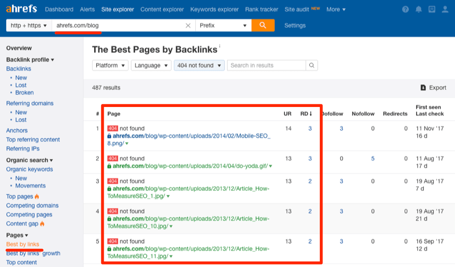 broken pages best by links 404