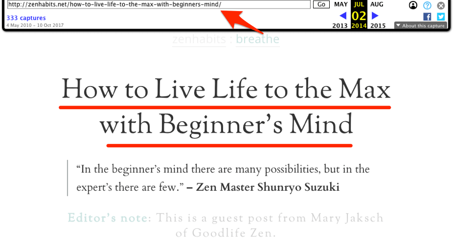 how to live life to the max with beginners mind wayback