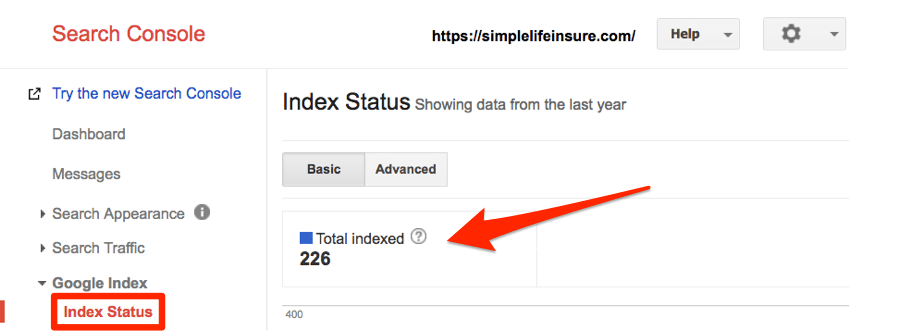 simple life insure index status
