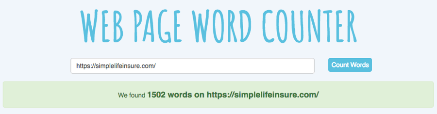 web page word counter