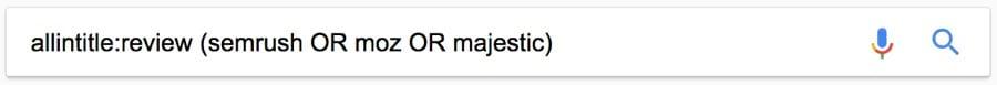 allintitle review search google