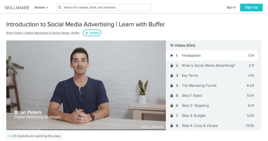 buffer social media course