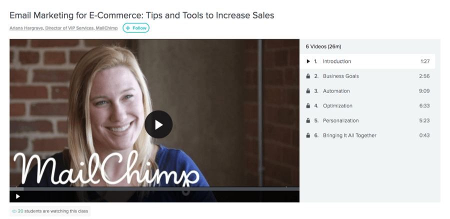 email marketing mailchimp course