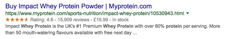 protein powder schema