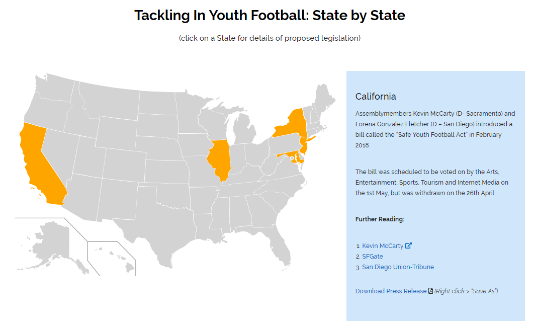 tackle football map