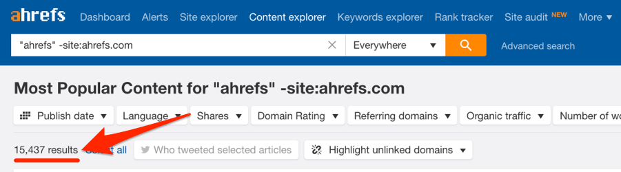 ahrefs content explorer search ahrefs