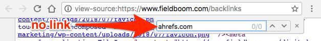 ahrefs no link