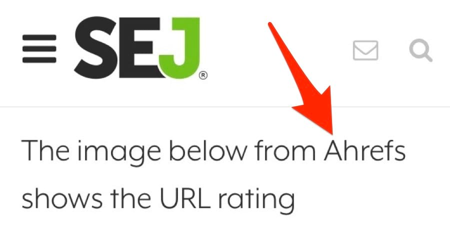 ahrefs unlinked mention sej
