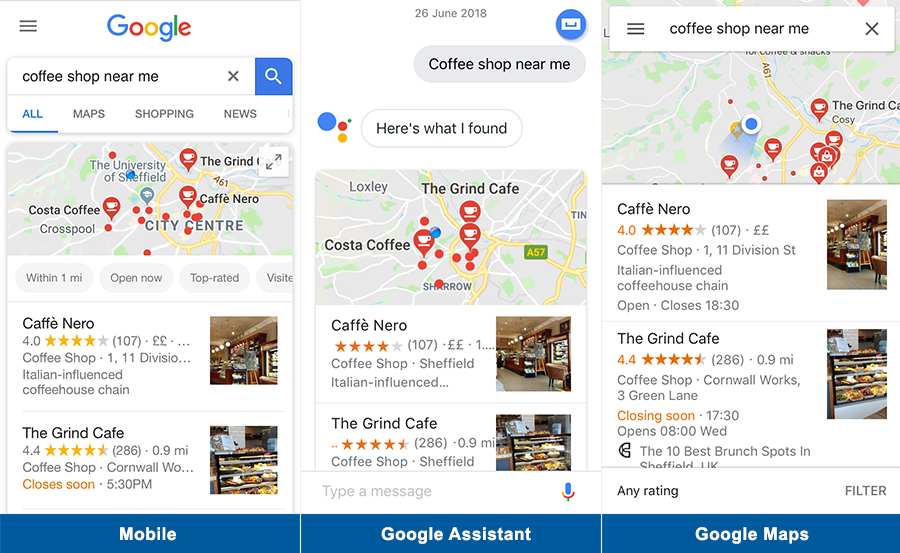 google maps assistant mobile
