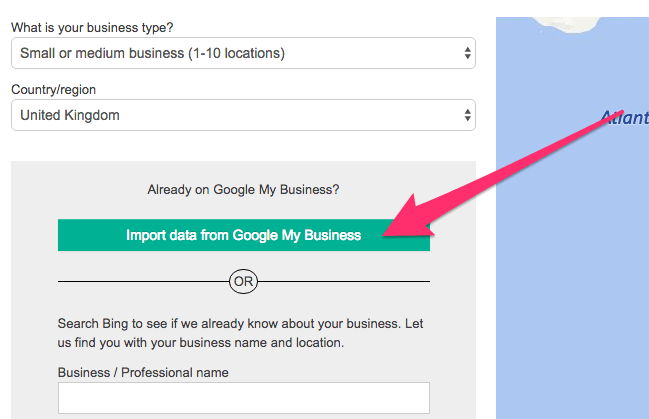 import data from google my business