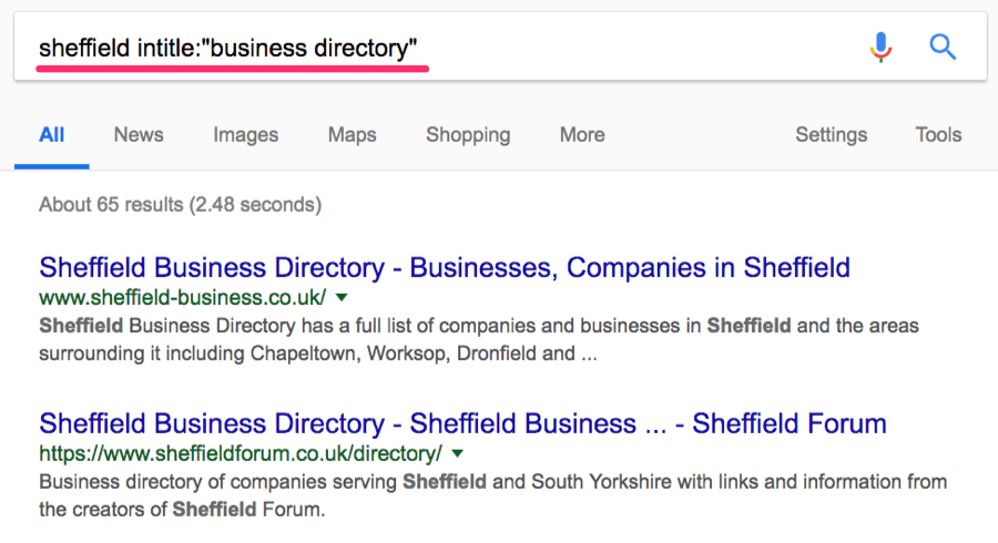 sheffield business directory operator