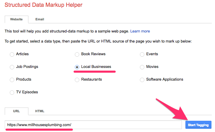 structured markup tool google