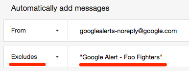 exclusions google alerts