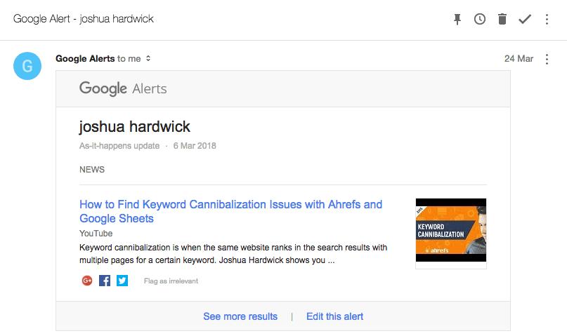 joshua hardwick google alert