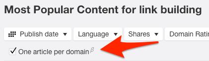one article per domain