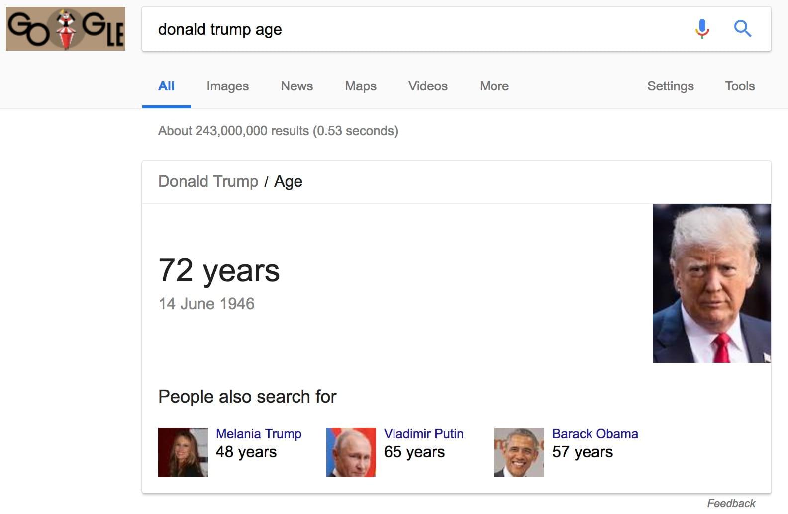 donald trump age Google Search