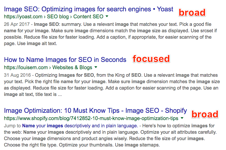 mixed bag serps
