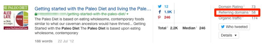 paleo diet page content explorer
