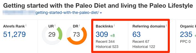 paleo diet page