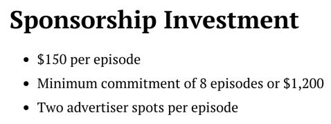 Seobits sponsoring investissement