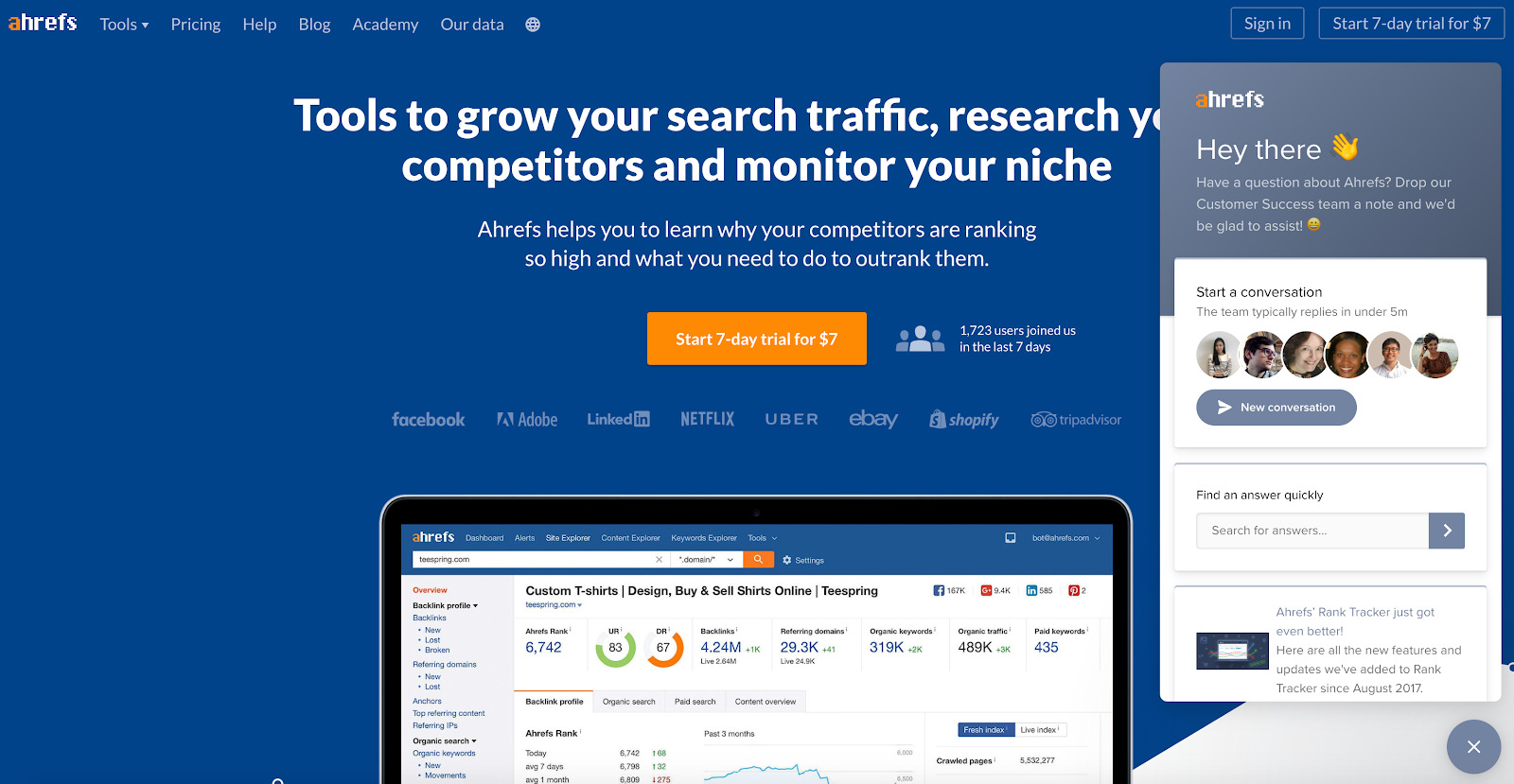 Ahrefs Competitor Research Tools SEO Backlink Checker
