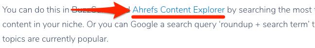ahrefs link