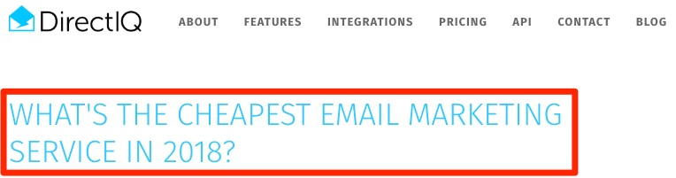 cheapest email marketing service
