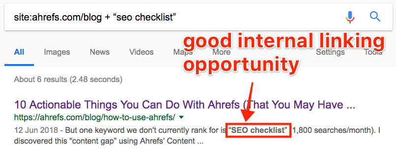 google search seo checklist