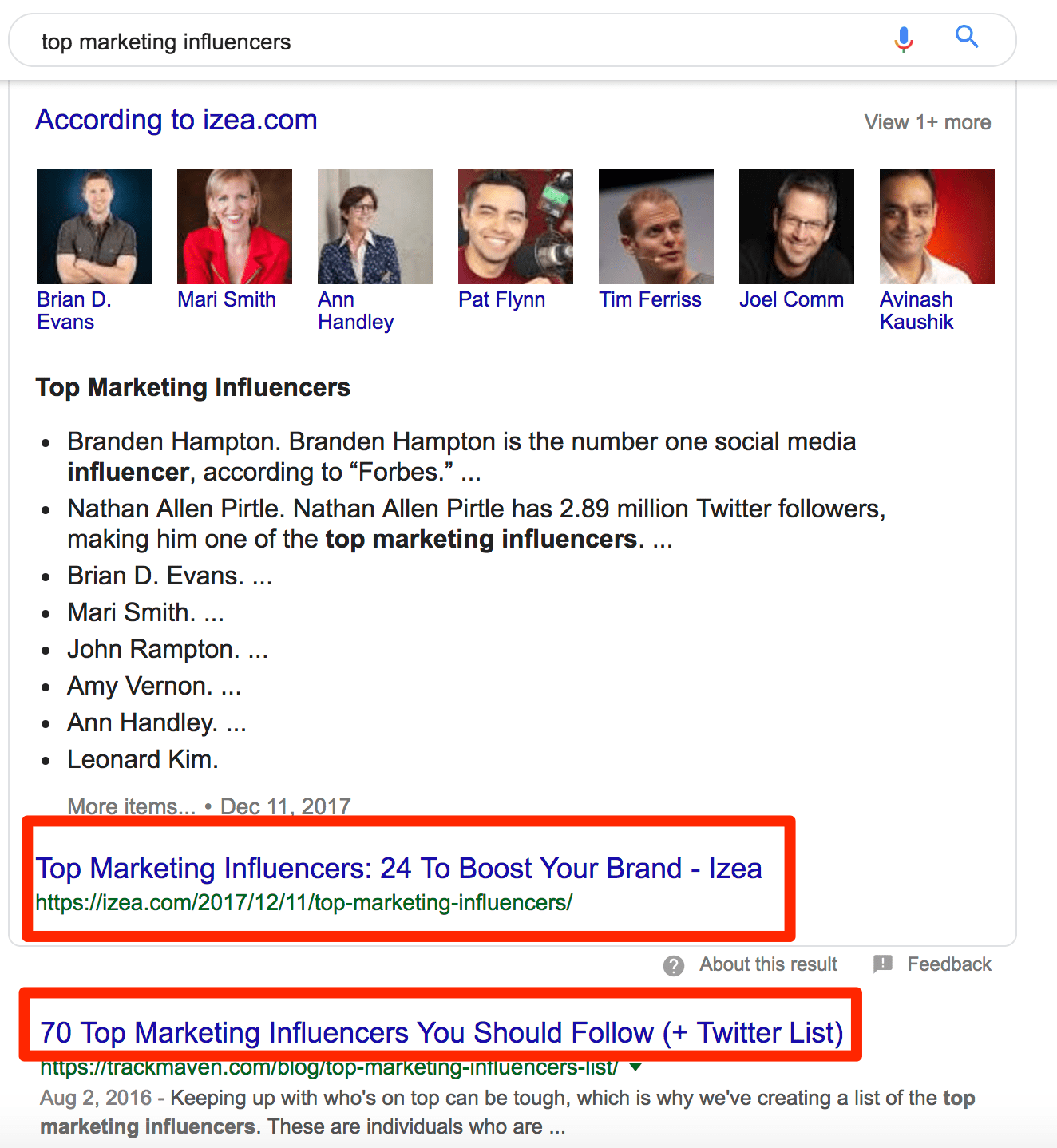 top marketing influencers   Google Search